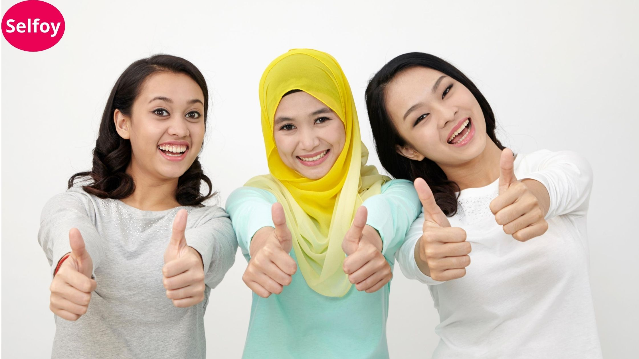 As Good Personal Hygiene can Help to Develop Positive Self Esteem, Three girls smiling and giving all the best