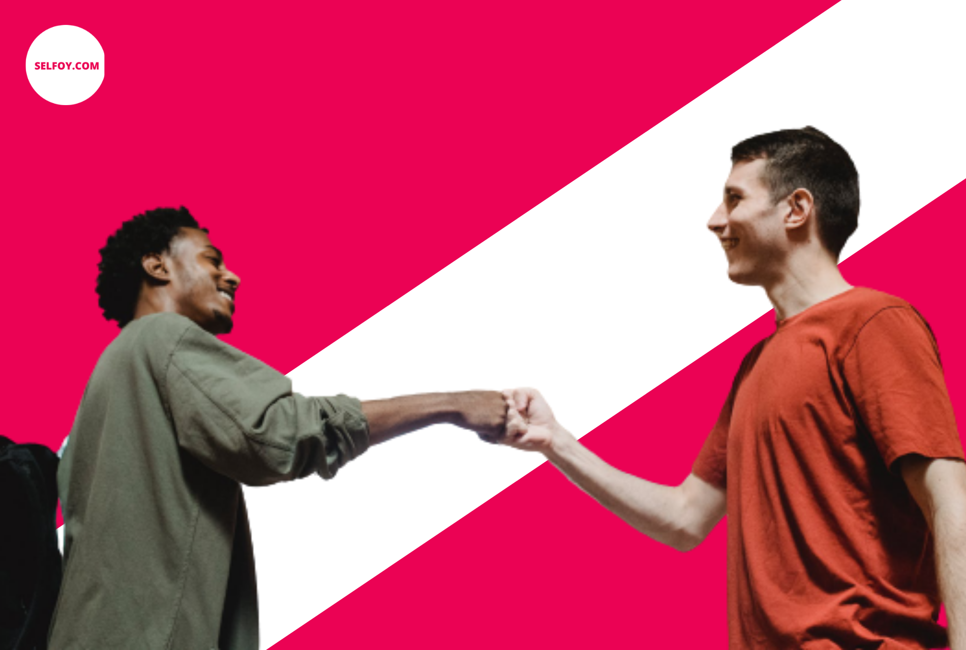 two guys shaking hand to start work in health care industry